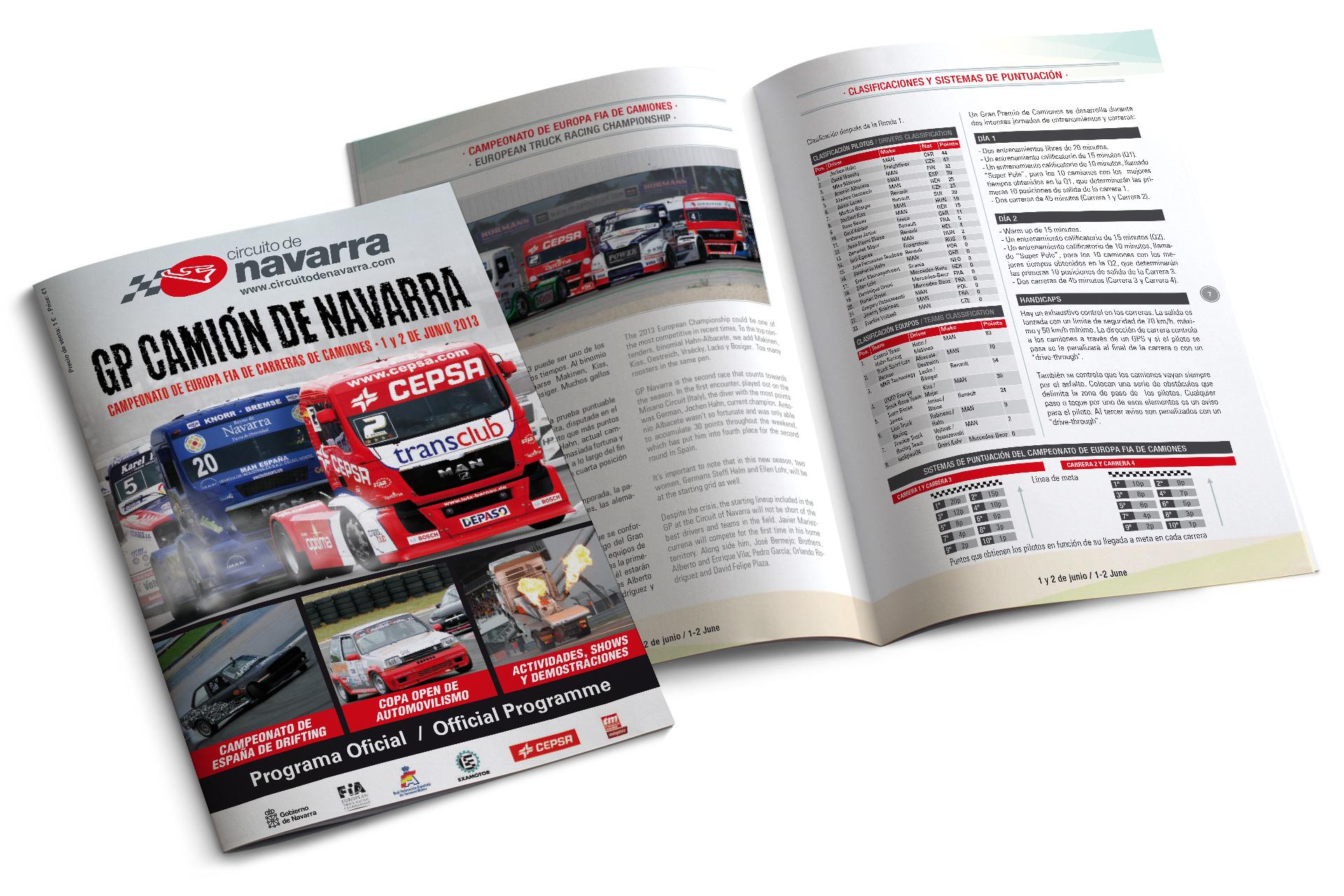 Revistas de carreras para el Circuito de Navarra